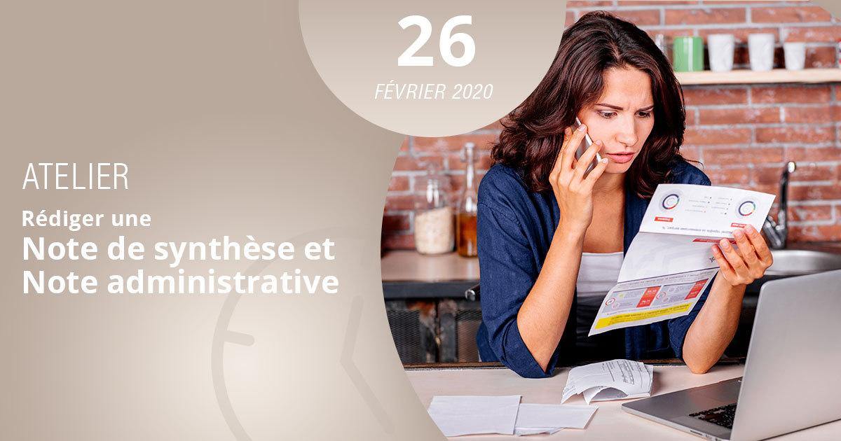 Atelier note de synthèse et note administrative