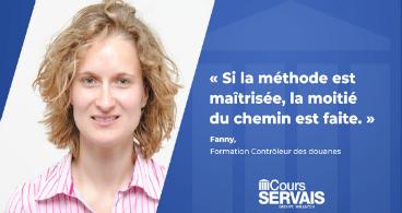 Fanny Guillevic, élève Cours Servais :  « Si la méthode est maîtrisée, la moitié du chemin est faite »