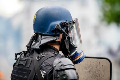 colère des policiers
