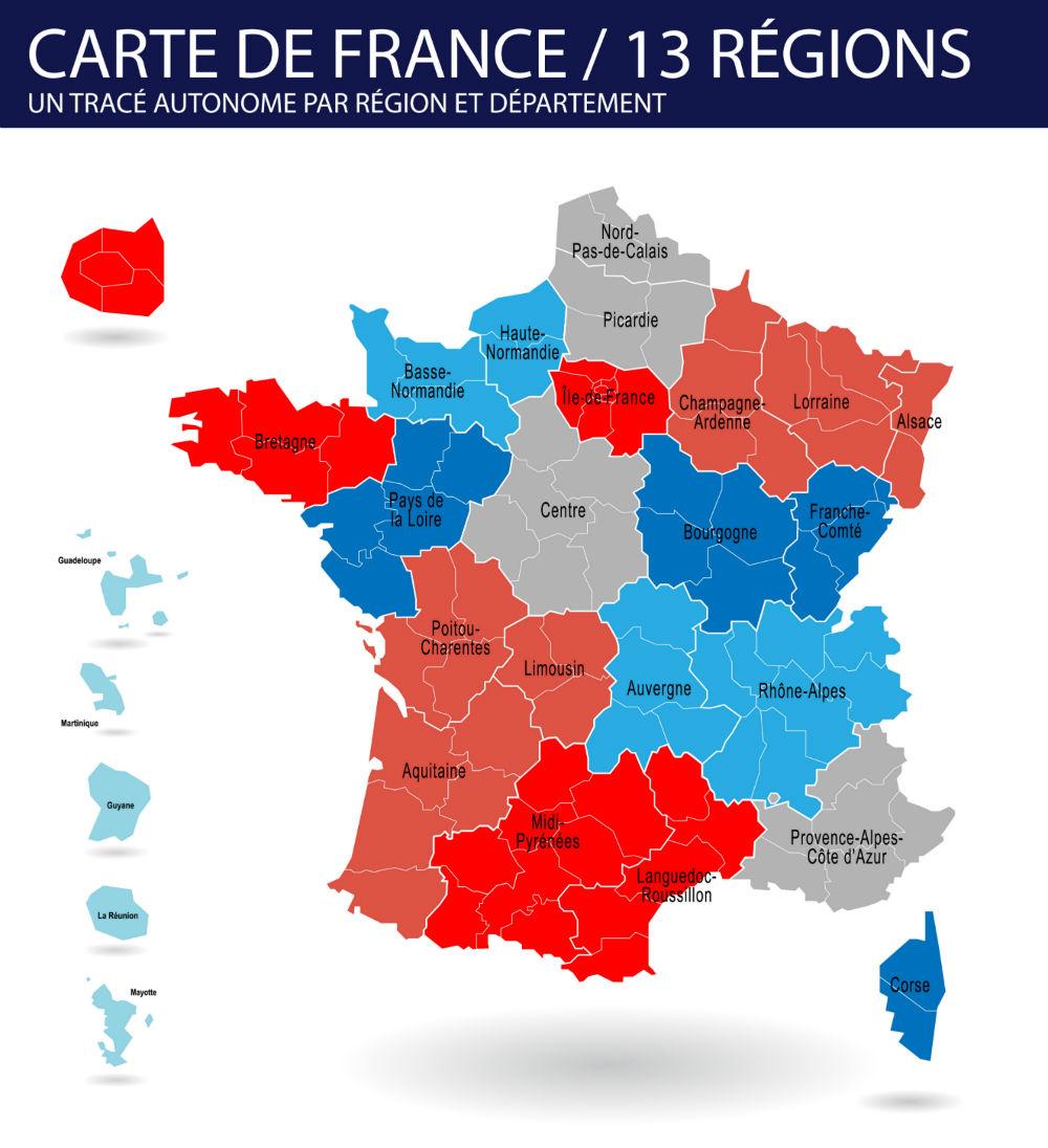 Découvrez les 13 nouvelles régions de la réforme territoriale