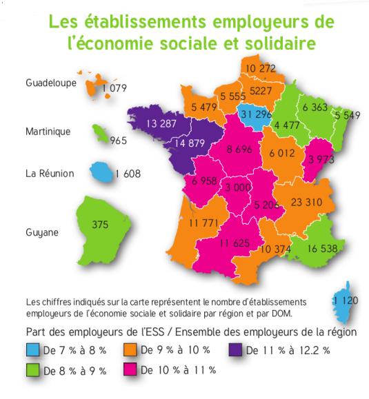 La carte des employeurs de l'ESS
